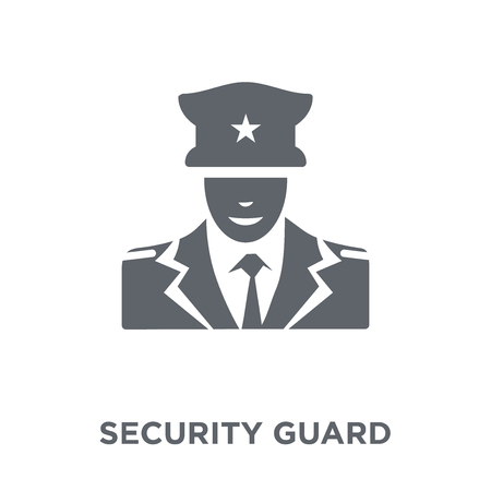 Security guard icon. Security guard design concept from Museum collection. Simple element vector illustration on white background.
