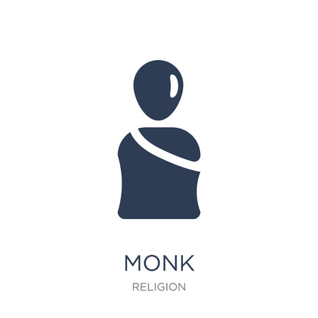 Monk icon. Trendy flat vector Monk icon on white background from Religion collection, vector illustration can be use for web and mobile, eps10