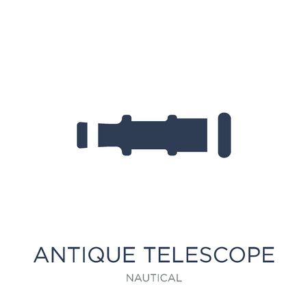 Antique Telescope icon. Trendy flat vector Antique Telescope icon on white background from Nautical collection, vector illustration can be use for web and mobile, eps10 Illustration