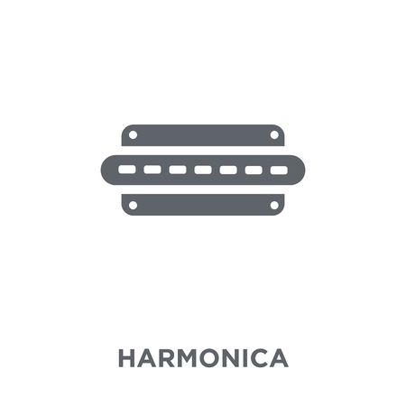 Harmonica icon. Harmonica design concept from Music collection. Simple element vector illustration on white background. Stock Illustratie