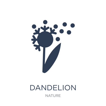 Icono de diente de león. Icono de diente de León de moda vector plano sobre fondo blanco de la colección de la naturaleza, Ilustración de vectores se puede utilizar para web y móvil, eps10