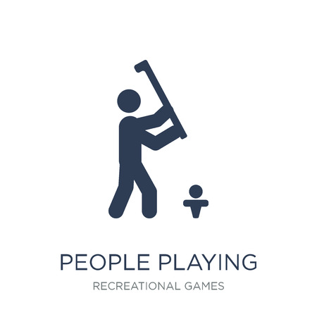 People playing Handball icon icon. Trendy flat vector People playing Handball icon on white background from Recreational games collection, vector illustration can be use for web and mobile, eps10
