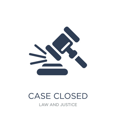Case closed icon. Trendy flat vector Case closed icon on white background from law and justice collection, vector illustration can be use for web and mobile, eps10 Stock Vector - 112281014
