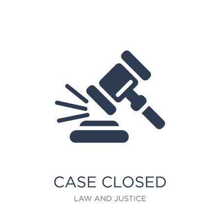 Icône de cas fermé. Icône de cas fermé de vecteur plat sur un fond blanc de la collection droit et justice, illustration vectorielle peut être utilisé pour le web et mobile, eps10