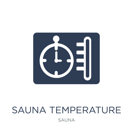 Sauna temperature icon. Trendy flat vector Sauna temperature icon on white background from sauna collection, vector illustration can be use for web and mobile, eps10  イラスト・ベクター素材