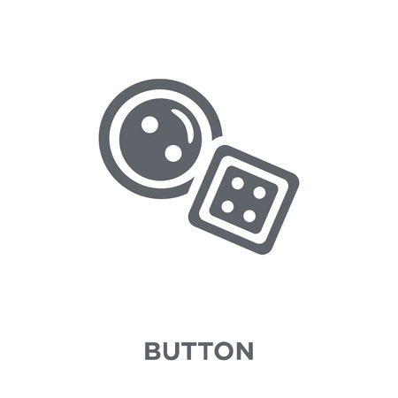 Button icon. Button design concept from  collection. Simple element vector illustration on white background.