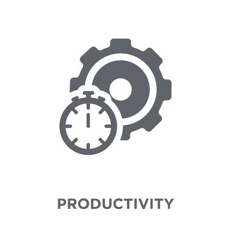 Icono de productividad. Concepto de diseño de productividad de colección. Ilustración de vector de elemento simple sobre fondo blanco. Ilustración de vector