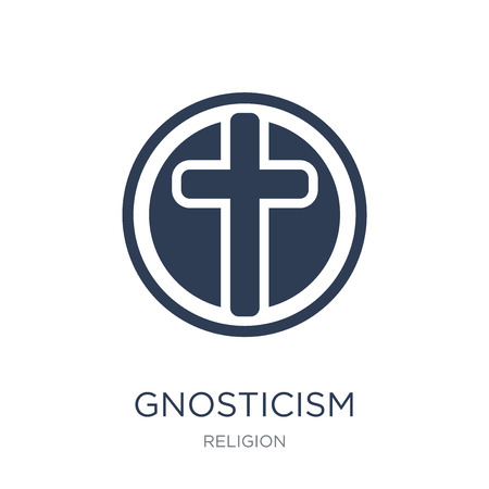 Gnosticism icon. Trendy flat vector Gnosticism icon on white background from Religion collection, vector illustration can be use for web and mobile, eps10
