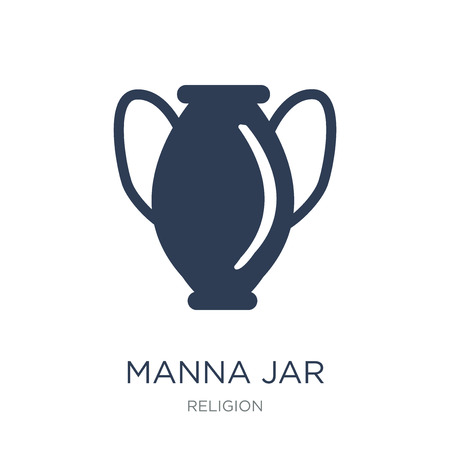 Manna Jar icon. Trendy flat vector Manna Jar icon on white background from Religion collection, vector illustration can be use for web and mobile, eps10