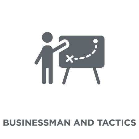 Businessman and tactics icon. Businessman and tactics design concept from Productivity collection. Simple element vector illustration on white background. 일러스트
