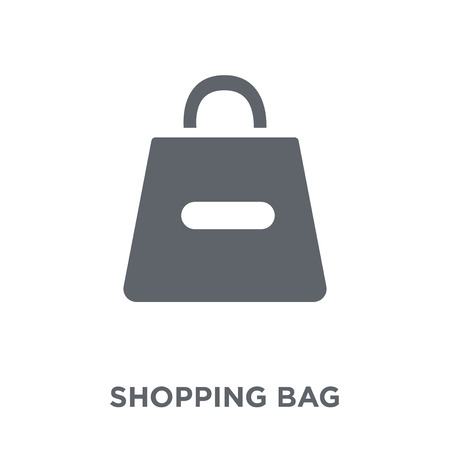 Shopping bag icon. Shopping bag design concept from  collection. Simple element vector illustration on white background. Illustration