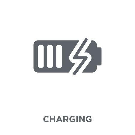 Charging icon. Charging design concept from  collection. Simple element vector illustration on white background.