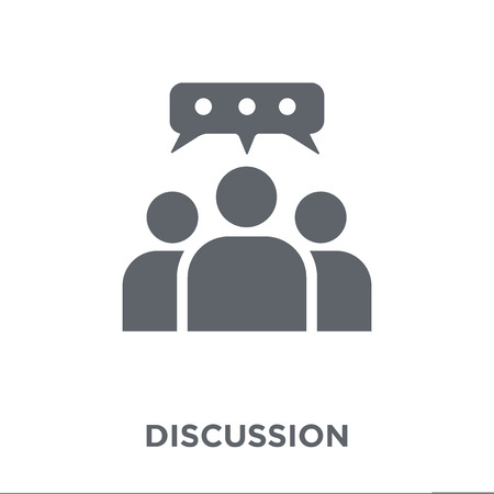 Discussion icon. Discussion design concept from  collection. Simple element vector illustration on white background. 写真素材 - 112318057