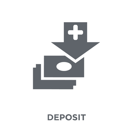Deposit icon. Deposit design concept from  collection. Simple element vector illustration on white background. Illustration
