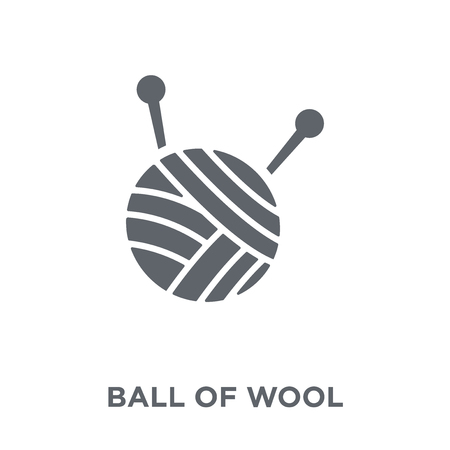 Ball of wool icon. Ball of wool design concept from sew collection. Simple element vector illustration on white background.