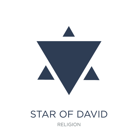 Star of David icon. Trendy flat vector Star of David icon on white background from Religion collection, vector illustration can be use for web and mobile, eps10