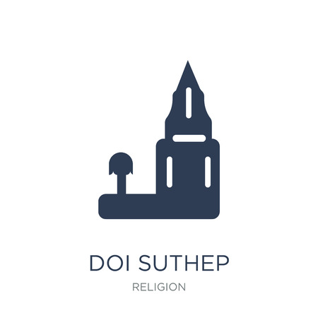 Doi suthep icon. Trendy flat vector Doi suthep icon on white background from Religion collection, vector illustration can be use for web and mobile, eps10
