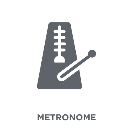 Metronome icon. Metronome design concept from Music collection. Simple element vector illustration on white background.