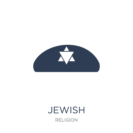 Jewish icon. Trendy flat vector Jewish icon on white background from Religion collection, vector illustration can be use for web and mobile, eps10