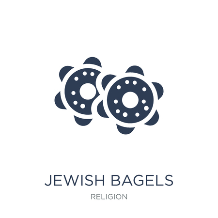 Jewish Bagels icon. Trendy flat vector Jewish Bagels icon on white background from Religion collection, vector illustration can be use for web and mobile, eps10