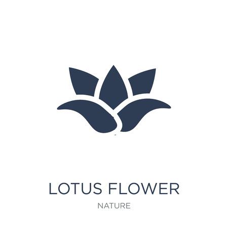 Icono de flor de loto. Icono de flor de loto de moda vector plano sobre fondo blanco de la colección de la naturaleza, Ilustración de vectores se puede utilizar para web y móvil, eps10