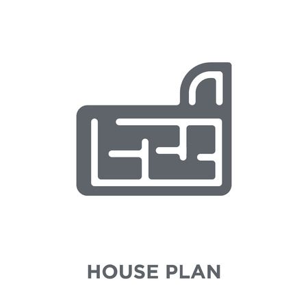 House plan icon. House plan design concept from  collection. Simple element vector illustration on white background.