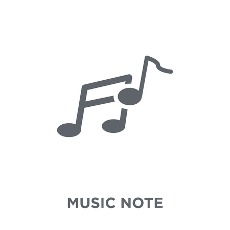 Music note icon. Music note design concept from  collection. Simple element vector illustration on white background. Illusztráció