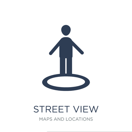 Street view icon. Trendy flat vector Street view icon on white background from Maps and Locations collection, vector illustration can be use for web and mobile, eps10