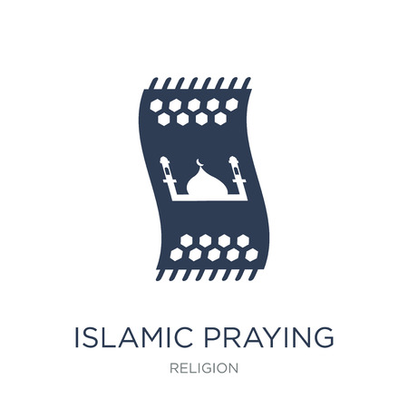 Islamic Praying Carpet icon. Trendy flat vector Islamic Praying Carpet icon on white background from Religion collection, vector illustration can be use for web and mobile, eps10