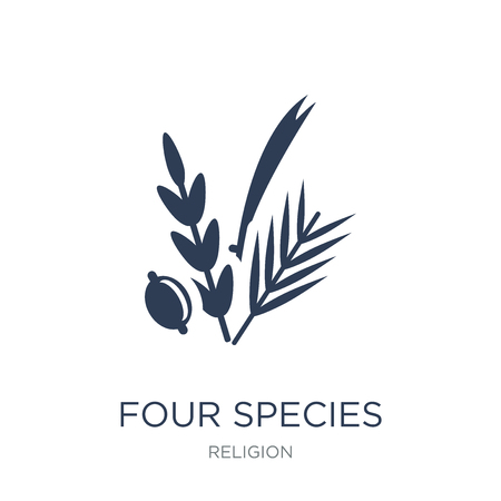 Four Species icon. Trendy flat vector Four Species icon on white background from Religion collection, vector illustration can be use for web and mobile, eps10 Çizim