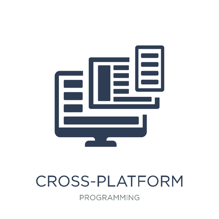 Cross-platform icon. Trendy flat vector Cross-platform icon on white background from Programming collection, vector illustration can be use for web and mobile, eps10