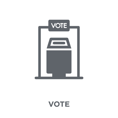 Vote icon. Vote design concept from  collection. Simple element vector illustration on white background. Zdjęcie Seryjne - 112318321
