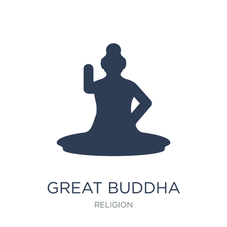Great buddha icon. Trendy flat vector Great buddha icon on white background from Religion collection, vector illustration can be use for web and mobile, eps10