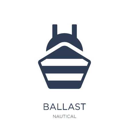 ballast icon. Trendy flat vector ballast icon on white background from Nautical collection, vector illustration can be use for web and mobile, eps10 Çizim