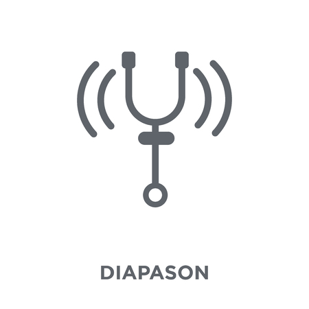 Diapason icon. Diapason design concept from Music collection. Simple element vector illustration on white background. Иллюстрация