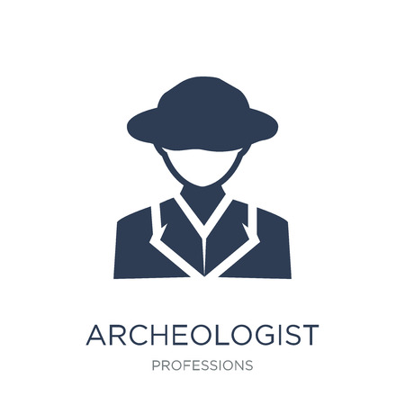 Archeologist icon. Trendy flat vector Archeologist icon on white background from Professions collection, vector illustration can be use for web and mobile, eps10
