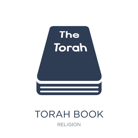 Torah Book icon. Trendy flat vector Torah Book icon on white background from Religion collection, vector illustration can be use for web and mobile, eps10