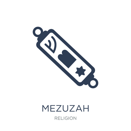 Mezuzah icon. Trendy flat vector Mezuzah icon on white background from Religion collection, vector illustration can be use for web and mobile, eps10 Çizim