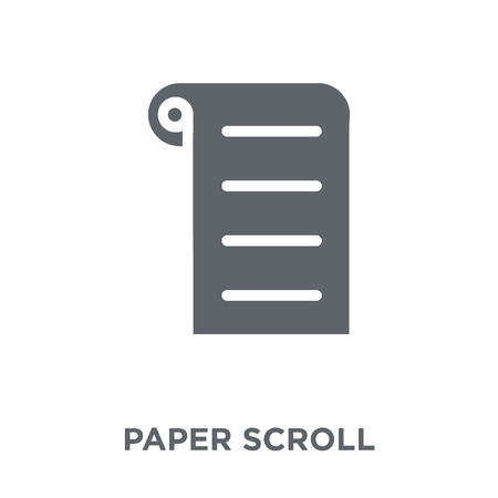 paper Scroll icon. paper Scroll design concept from Museum collection. Simple element vector illustration on white background.