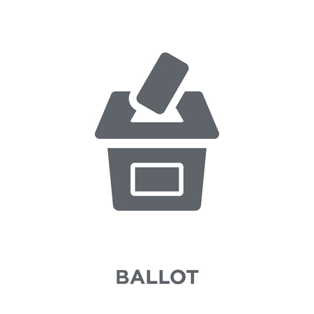 Ballot icon. Ballot design concept from collection. Simple element vector illustration on white background.