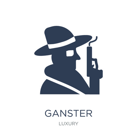 Ganster icon. Trendy flat vector Ganster icon on white background from Luxury collection, vector illustration can be use for web and mobile, eps10