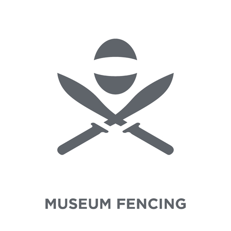 museum Fencing icon. museum Fencing design concept from Museum collection. Simple element vector illustration on white background. Illustration
