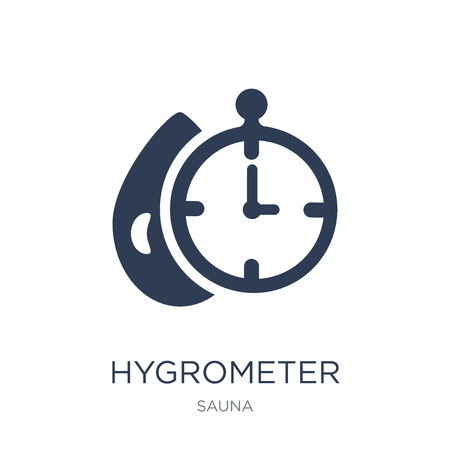 Hygrometer icon. Trendy flat vector Hygrometer icon on white background from sauna collection, vector illustration can be use for web and mobile, eps10