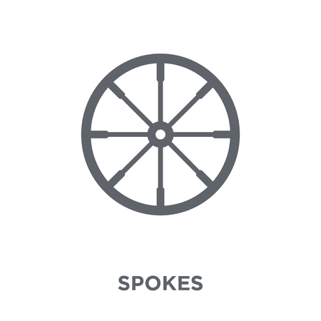 Spokes icon. Spokes design concept from Sew collection. Simple element vector illustration on white background. Иллюстрация