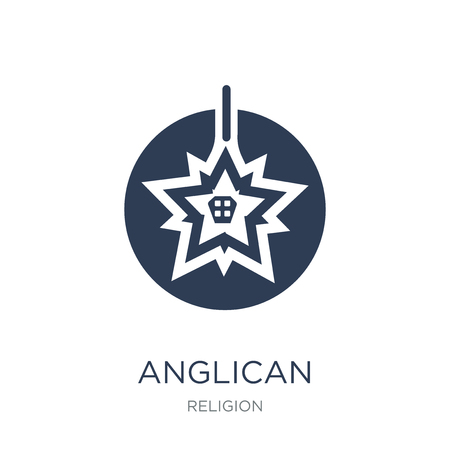 Anglican icon. Trendy flat vector Anglican icon on white background from Religion collection, vector illustration can be use for web and mobile, eps10 스톡 콘텐츠 - 112318500