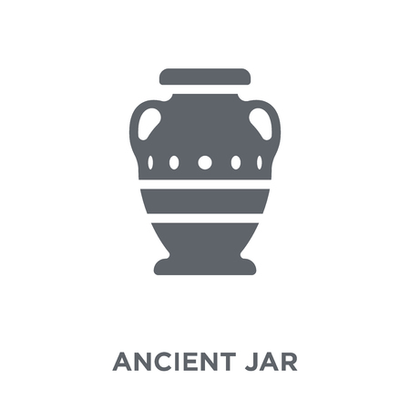 Ancient jar icon. Ancient jar design concept from  collection. Simple element vector illustration on white background.