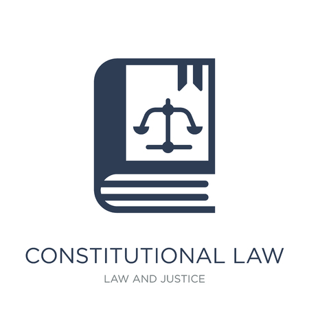 constitutional law icon. Trendy flat vector constitutional law icon on white background from law and justice collection, vector illustration can be use for web and mobile, eps10