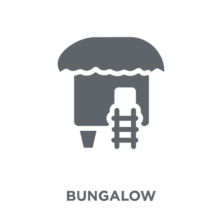 Bungalow icon. Bungalow design concept from  collection. Simple element vector illustration on white background. 向量圖像