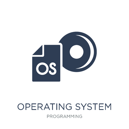 Operating system icon. Trendy flat vector Operating system icon on white background from Programming collection, vector illustration can be use for web and mobile, eps10 Stock Vector - 112318504