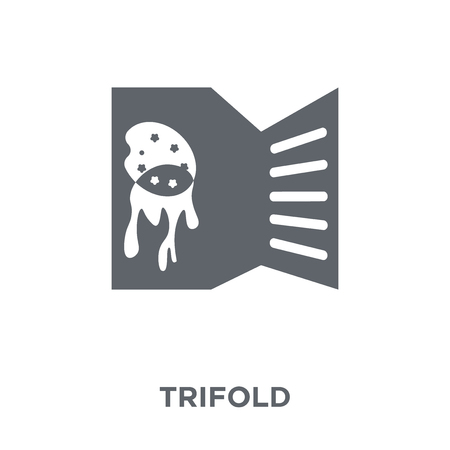 Trifold icon. Trifold design concept from  collection. Simple element vector illustration on white background.